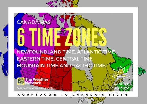 What time is it where you live? ⏰ Great  fact 105/150 #Canada150