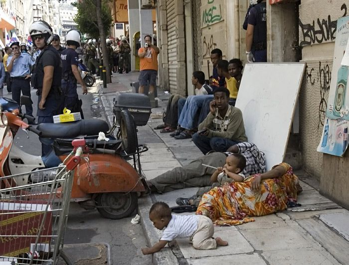 Migrant situation in Athens, Greece.  Unbelievable proportions and getting worse. September, 2015
