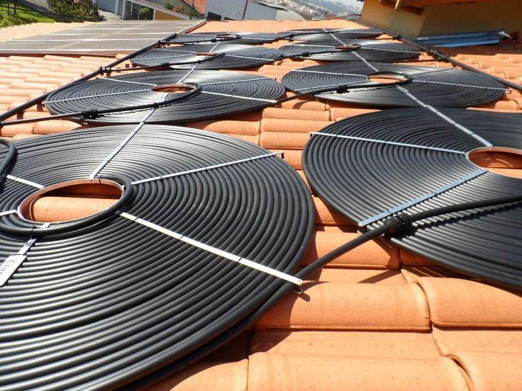 Projeto aquecedor solar caseiro feito com mangueiras de PVC