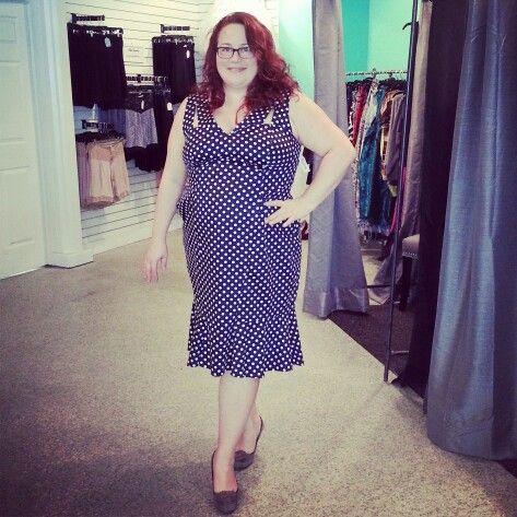 This @cherry_velvety polka dot number looks great on this Renegade!  #ldnont #Renegade #effyourbeautystandards #plussizestore #curvy