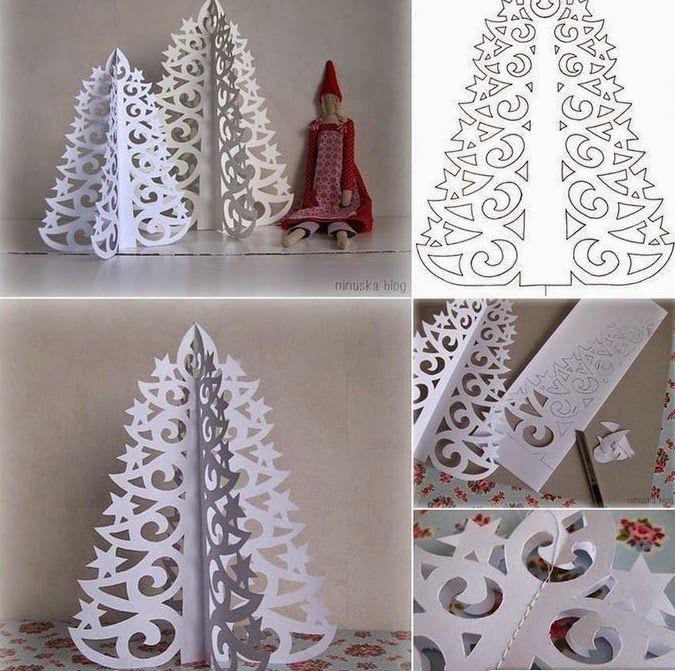 Relase: Addobbi natalizi Fai da Te: albero di Natale in carta ...