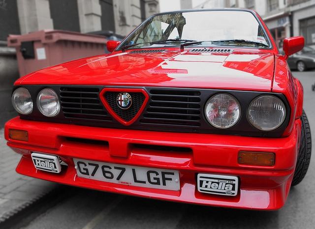 Alfa Romeo Sprint Cloverleaf, Italdesign, front detail, c1988