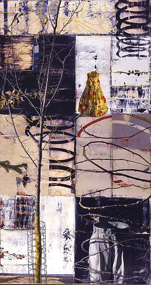 George Fischer - Contemporary Artist. Good use on a grid, layering, multimedia and texture!