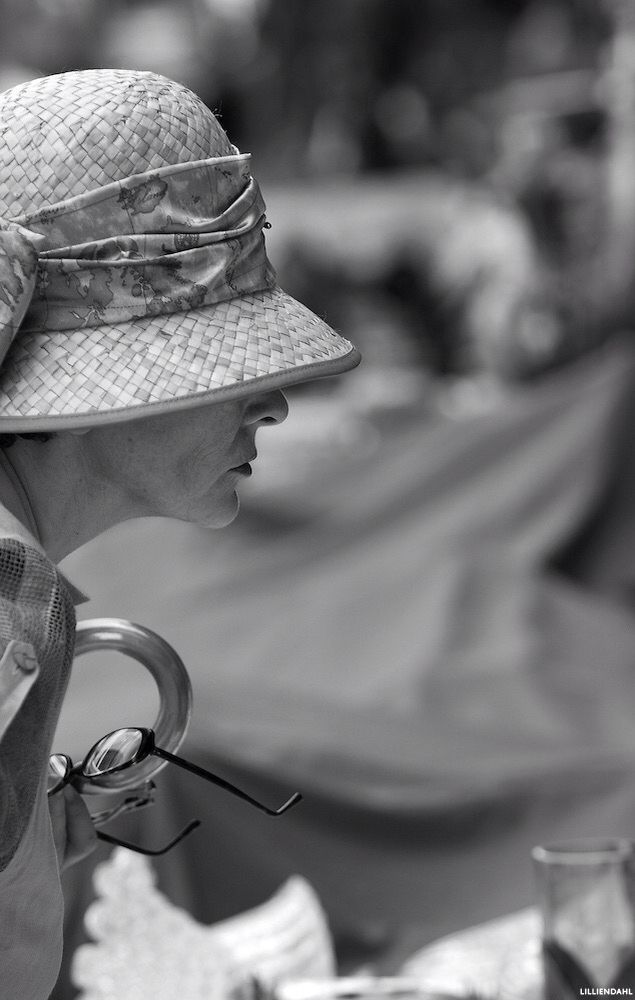 Woman at the antique market in Bologna,Italy. Photograph by Karl R Lilliendahl