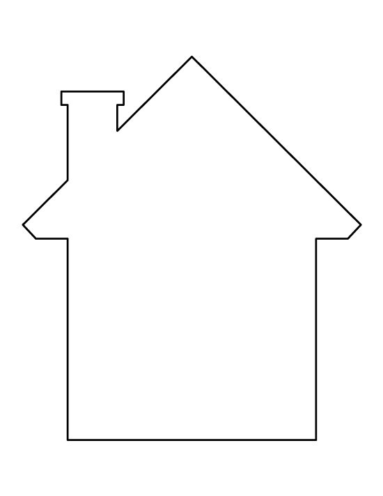 House pattern. Use the printable outline for crafts, creating stencils, scrapbooking, and more. Free PDF template to download and print at http://patternuniverse.com/download/house-pattern/