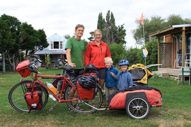 Dutch family on the #Otago Central Rail Trail