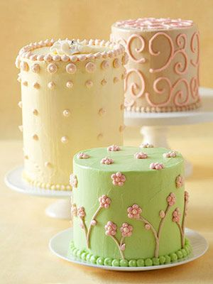 Tiny Tall Cakes... Believe it or not, these were baked in tin cans.