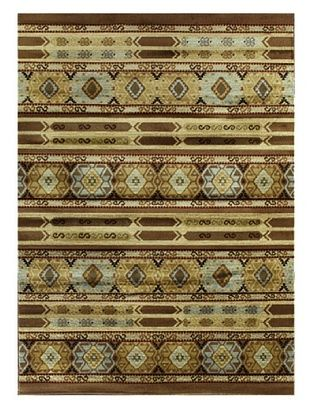 -21,100% OFF Ikat Tribal Modern Rug, Brown, 5' 5