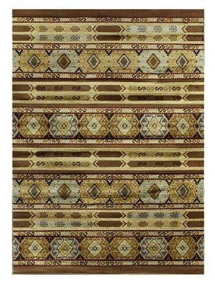 -21,100% OFF Ikat Tribal Modern Rug, Brown, 5' 5