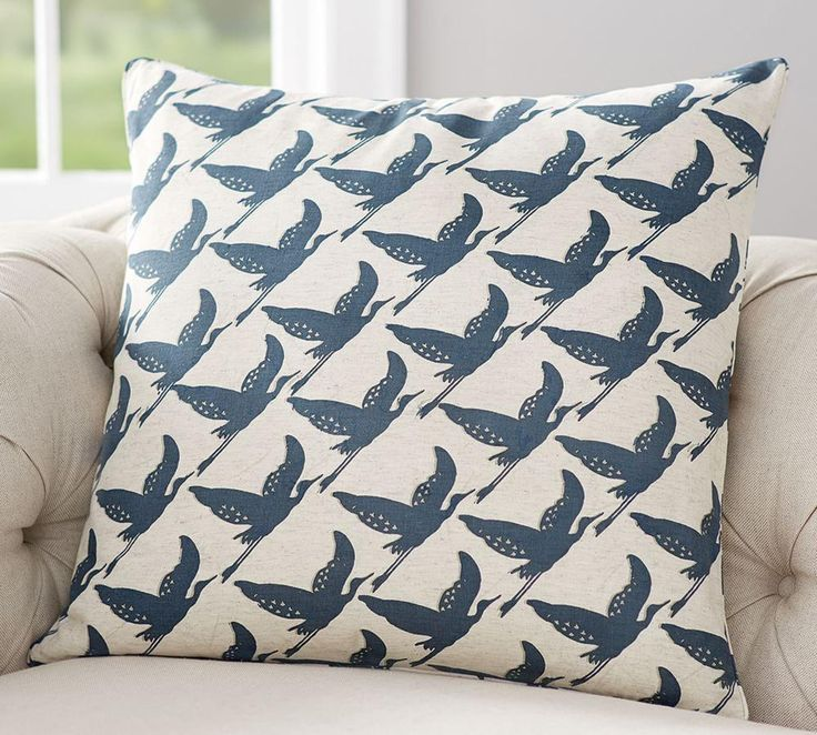 Geo Bird Print Cushion Cover