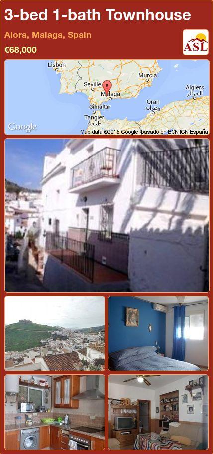 3-bed 1-bath Townhouse in Alora, Malaga, Spain ►€68,000 #PropertyForSaleInSpain