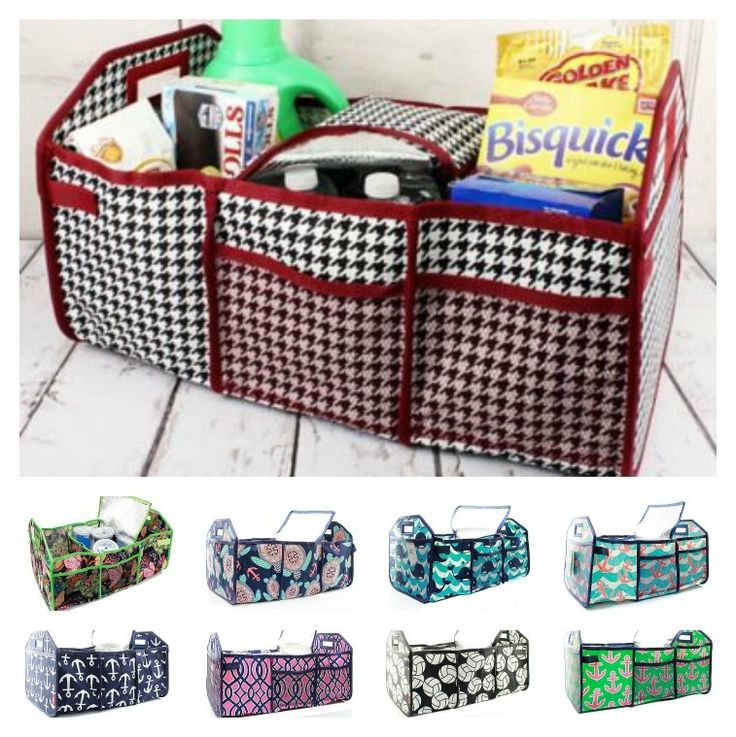 This versatile tote makes it easy to store or carry a variety of items! With multiple compartments and a removable insulated bag, it's perfect for the grocery store, in the trunk of your car, or even