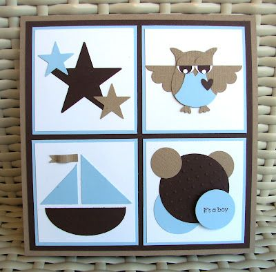 Baby Boy Owl Card by stamp my day - Cards and Paper Crafts at Splitcoaststampers