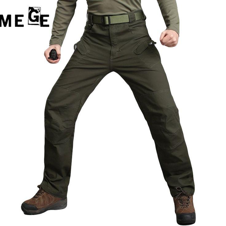 MEGE Men IX7 Army Men Pants Tactical Multi Pocket Pants, Military Combat Trouser Pantalon Homme Cargo Pants For Men