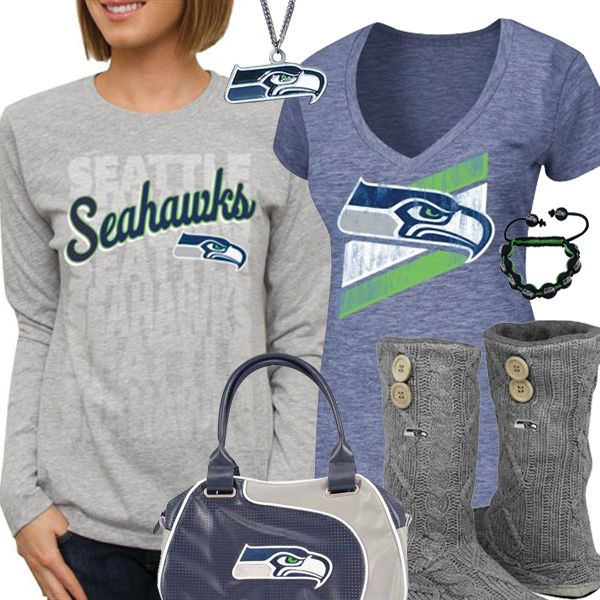 Cute Seattle Seahawks Fan Gear. Change this to the Chiefs and I'd wear it.