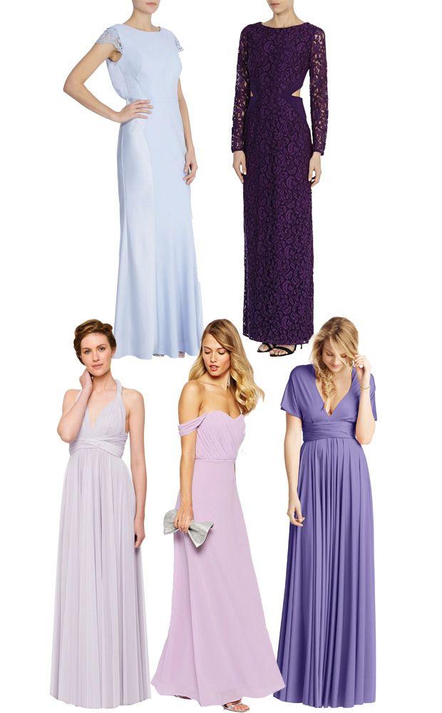 25 Best Ideas About Long Purple Bridesmaid Dresses On Pinterest