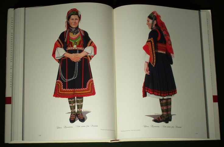 Huge Book Greek Folk Costume Macedonian Ethnic Dress Embroidery Headdress Balkan | eBay