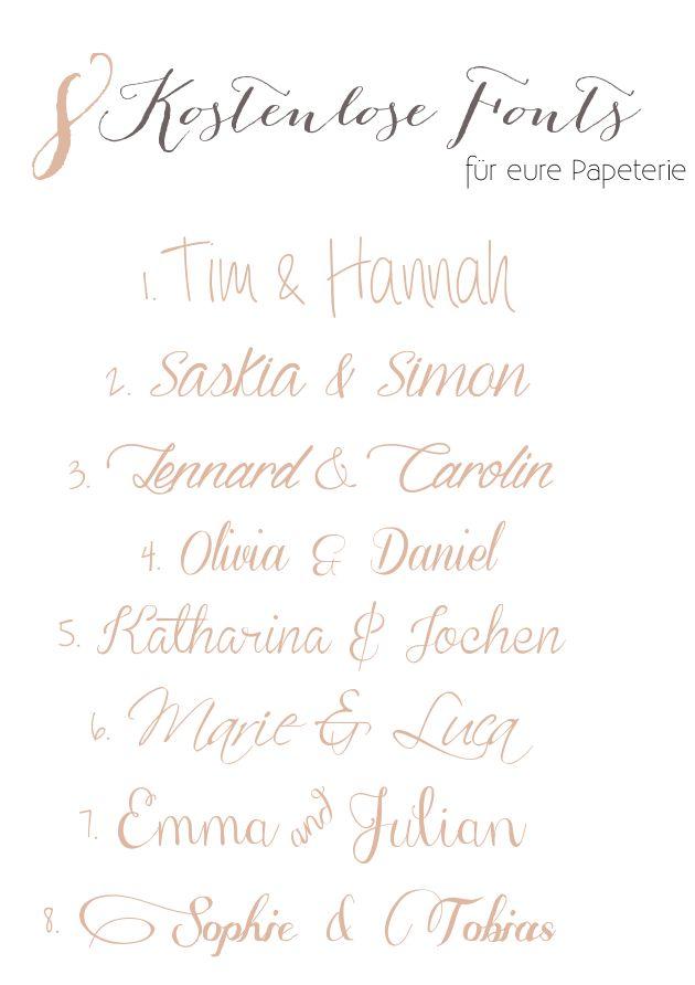 8 Kostenlose Fonts für eure Papeterie
