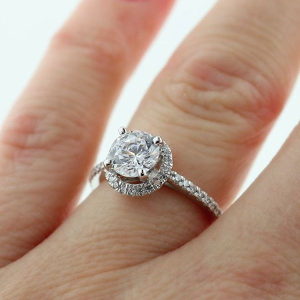 109 best Diamond Accented Engagement Rings images on Pinterest