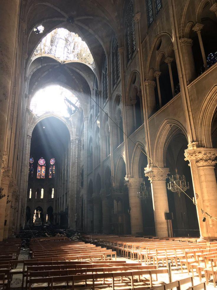 La catedral de Notre Dame compartió esta imagen