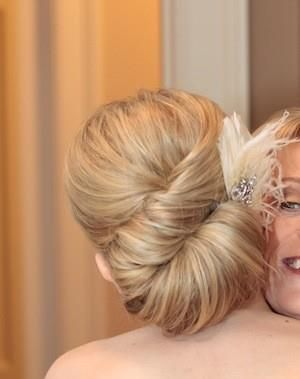 Beautiful wedding updo.