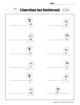 FRENCH PRONUNCIATION: THE SILENT LETTERS {LES FANTôMES} - TeachersPayTeachers.com  I have a giant ghost up in my room and we post silent letters up there as we find them.