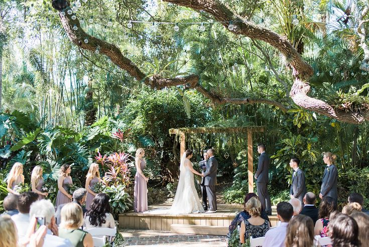 wedding ceremony - photo by Elaine K Garland Photography http://ruffledblog.com/gold-and-greenery-garden-wedding