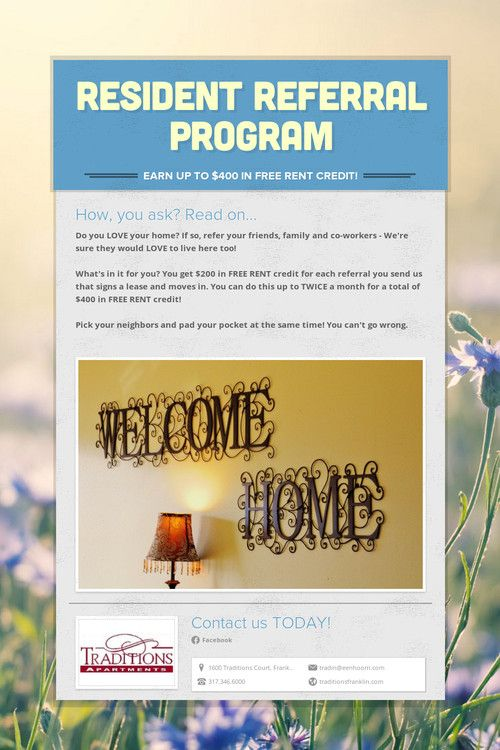 www.smore.com - Free online flyers.  Here's a Resident Referral Program flyer I made for my propery.