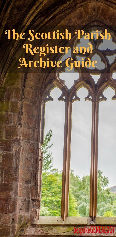 The Scottish Parish Register and Archive Guide | Bespoke Genealogy