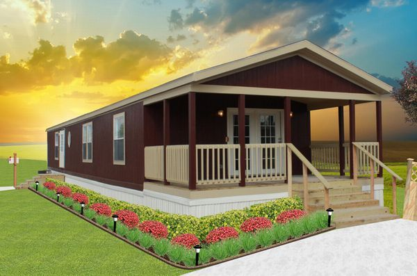 single wide mobile homes 18 ft wide | HUGE 18' WIDE PORCH