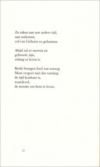Gedeelte van het gedicht 'Geboorte en sterven' uit de ...