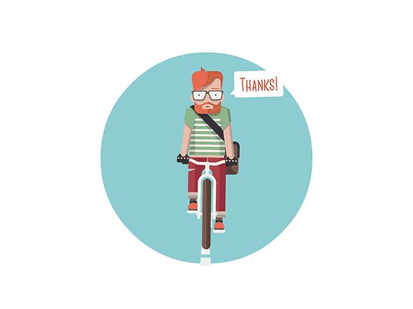 Bicycle Icons by Robert Filip, via Behance
