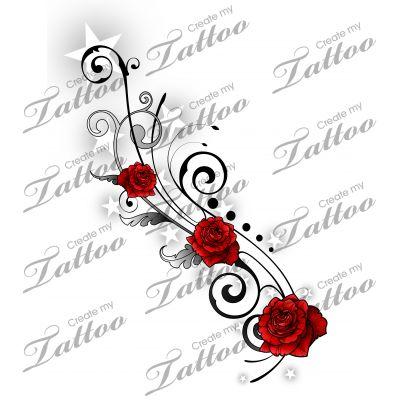 best 25 rose vine tattoos ideas on pinterest. Black Bedroom Furniture Sets. Home Design Ideas