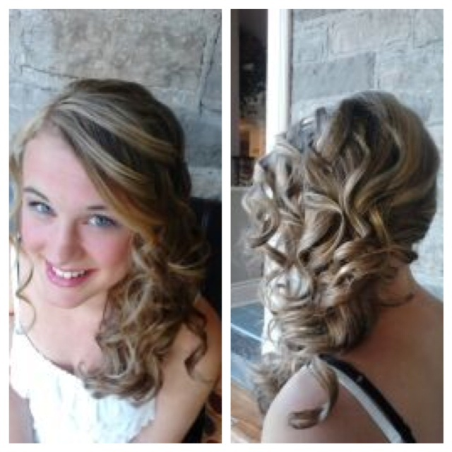 Graduation Hair Style by Ella at The Spa #Curls