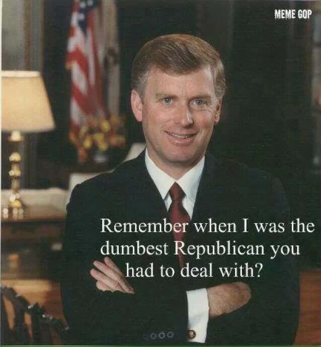 Dan Quayle: Remember when I was the dumbest Republican you had to deal with?  (This made me laugh so hard, I snorted!)