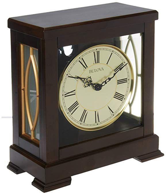 Bulova B1653 Victory Mantel Chime Clock Brown Review With Images Clock Mantel Clocks Mantel Clock