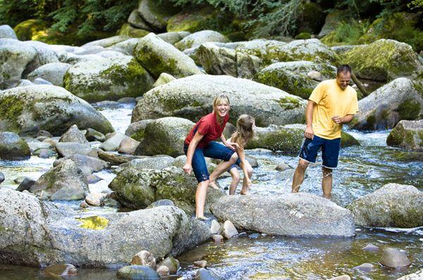 Eine Abkühlung beim #Flussbaden im #Mühlviertel. Weitere Informationen zu #Badeurlaub im Mühlviertel in #Österreich unter www.muehlviertel.at/naturbaden - ©Oberösterreich Tourismus/Erber