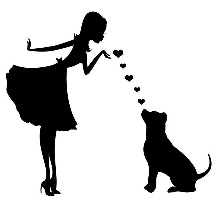 I love this silhouette, would prefer a boston terrier for the dog...... Going to try and paint this :)