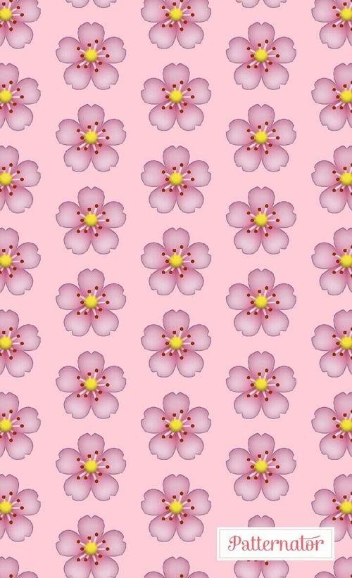 flower, emoji, and pink image
