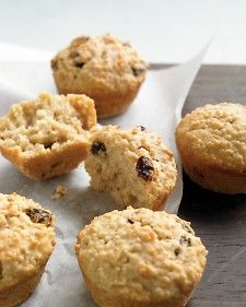 These were a huge hit!  Instead of oat or bran muffins, try these moist breakfast treats to fuel your morning. Substitute other chopped dried fruit for the raisins, if you like.