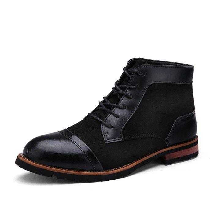 Men Oxford Ankle Boots, Dress Shoes