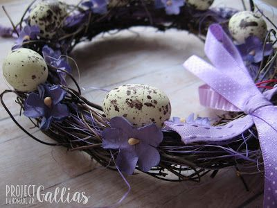 ProjectGallias: #projectgallias Handmade easter wreath, wielkanocny wianuszek