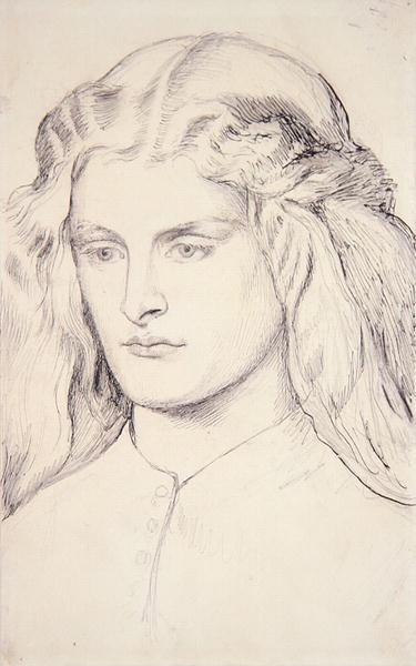 Portrait study of Annie Miller, c.1860-63