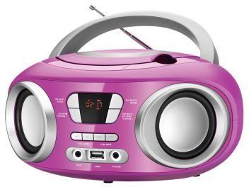 Som Portátil Mondial Rádio FM 6W CD - Display Digital BX-15 Up Entrada USB MP3