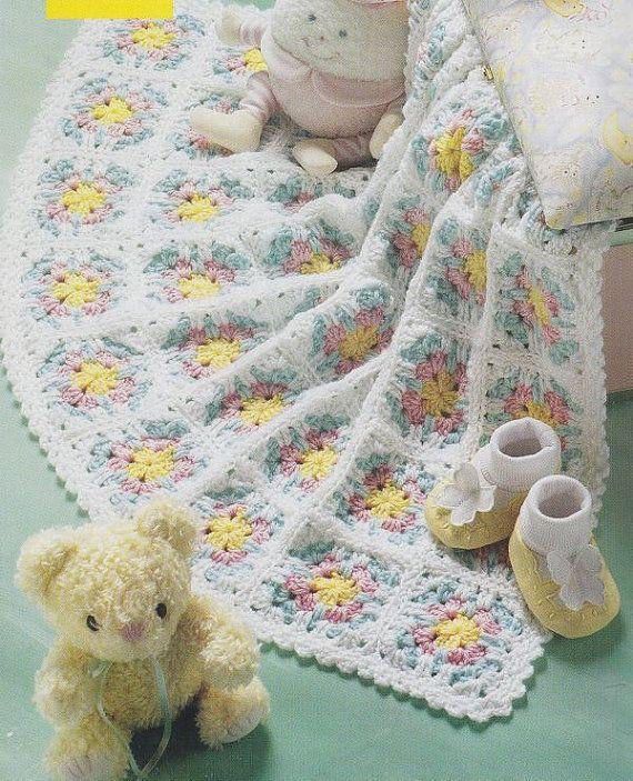 Flower Baby Afghan Crochet Pattern