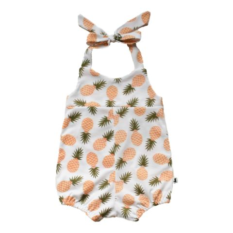 Romper - Tossed Pineapple - Little & Lively #babyshowergiftideas