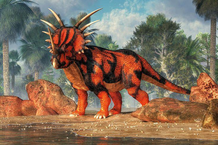 Styracosaurus Digital Art by Daniel Eskridge