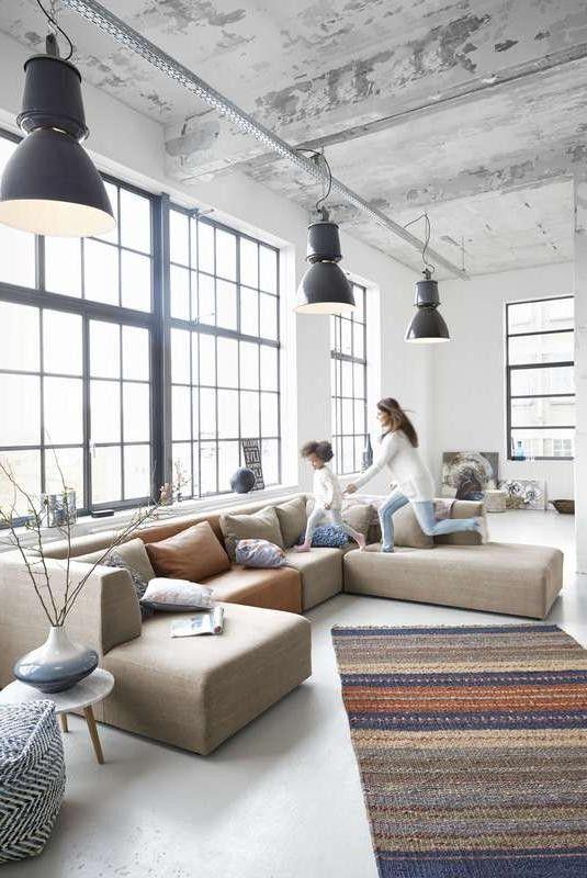 Hoekbank Namia 3,5-zits + longchair | Woonboulevard Poortvliet XXL