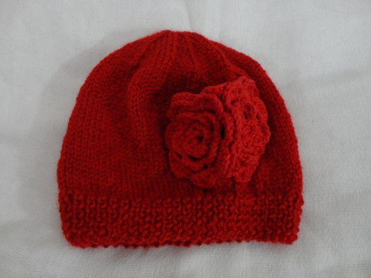 Gorro Cacho de Flores. De lã.