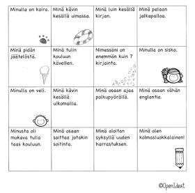 Luokkakaveri-bingo   Open ideat: Meidän luokka!